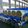 Hot dipped galvanized steel pipe with cap protector and platic package