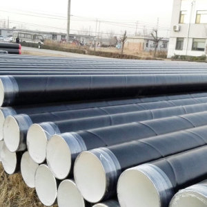 Epoxy painted Spiral welded steel pipes used for transportation water