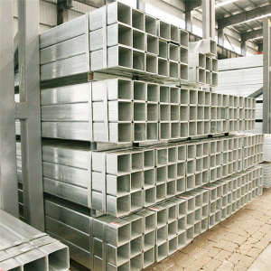 Galvanized Rectangular Pipe Tube Galvanized Square Steel Tube ERW Galvanized Square Tube