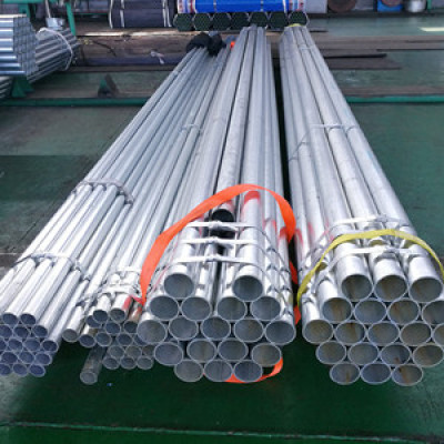 ASTM A53 schedule 40 bs1387 greenhouse pre zinc coated round steel pipe for construction