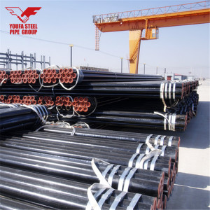 Welded Pipe for Fire Sprinkler Pipe with Black Varnished or Red Painted and Rolled Groove Ends