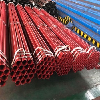 Sprinkler Pipe Hot-dipped Galvanized and Then Painted Red
