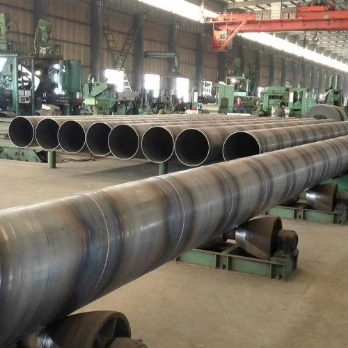 tubería de acero en espiral tubería de acero al carbono soldada para transporte de agua, gas y petróleo