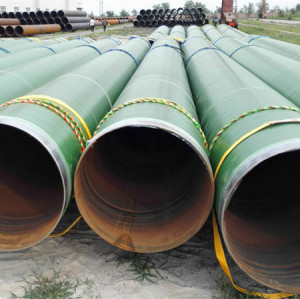 Epoxy painted or 3PE coating SSAW/Spirally Submerged Arc Welding steel pipes