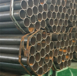 balck painting erw steel pipe