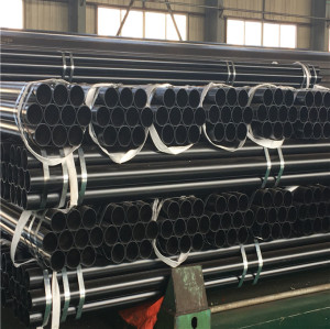 carbon mild steel pipe black painting round hollow section
