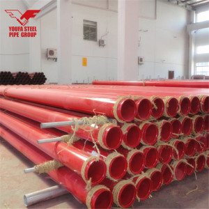 DN150 6INCH SCH10 FIRE SPRINKLER PIPE with GROOVED ENDS PAINTED RED RAL3000