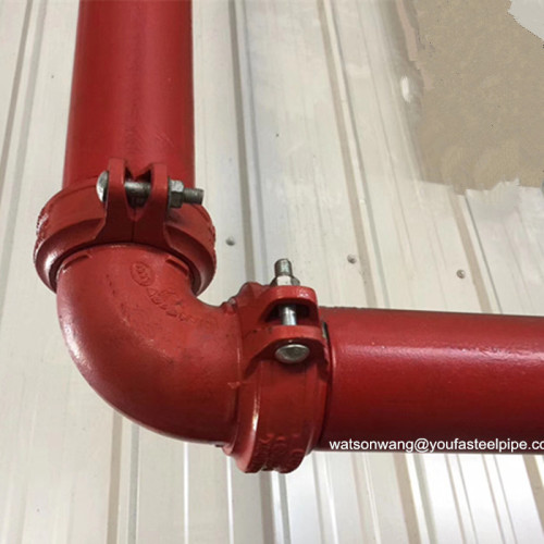 كربون فولاذ أخدود نهاية أنبوب DN 50 لإطفاء الحرائق الأنابيب أو توصيل المياه