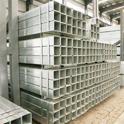 Perfil de acero MS Tubo cuadrado Tubo de acero cuadrado galvanizado