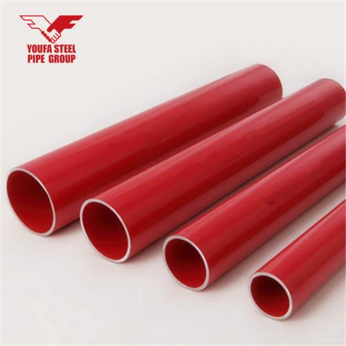 Tubo de rociadores contra incendios con color rojo pintado de YOUFA