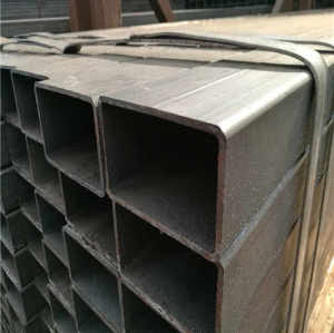 MS ERW Welded Hot Rolled Black Carbon Square Rectangular Hollow Section Steel Tube