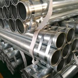 YOUFA marca ASTM A795 tubo de acero negro / galvanizado con extremos ranurados