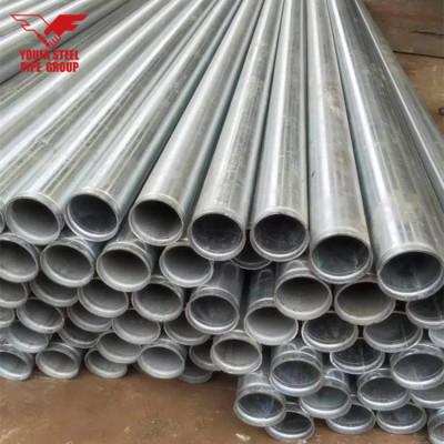 Precio 6 pulgadas 168.3 mm Tubo galvanizado con extremo de ranura enrollada