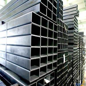 Q195 carbon hollow structural mild black rectangular steel pipe