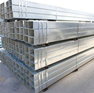 Hot Dipped Square Rectangular Tubes Carbon Metal Steel Pipes with Grade EN S235JR