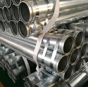 UL FM ASTM A53 Galvanized Pipe with Groove End