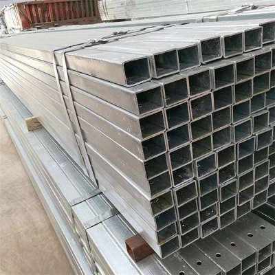 Tubo de acero galvanizado famoso Tubo de acero cuadrado galvanizado de pared delgada de 4 pulgadas