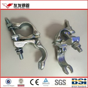 right angle and swivel drop forged metal scaffolding pipe clamp