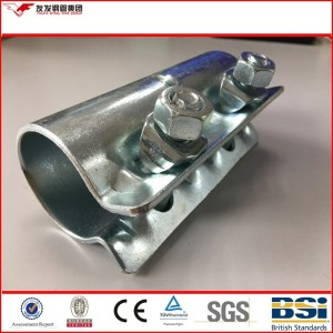 Top 500 enterprises of china scaffolding  clamp price of  galvanized surface types of couplers