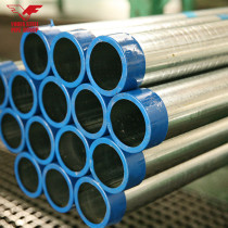 48.3mm EN39 galvanized scaffolding steel pipe with threaded ends