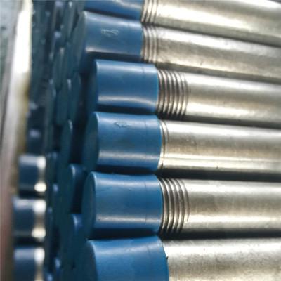 Tubos de acero soldado al carbono galvanizado en caliente con extremos roscados