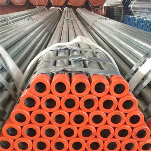 e 235 tubería de acero redonda roscada galvanizada en caliente estándar