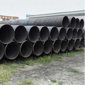 أنابيب فولاذية لولبية مقاس 36 بوصة تستخدم في مشاريع الأساسات SSAW ASTM A252 Standard
