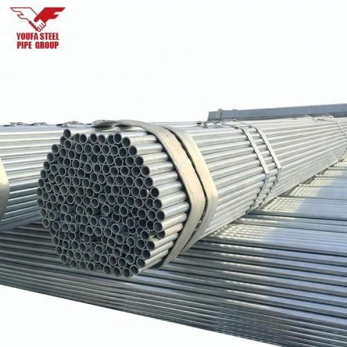 BS 1387 tubos galvanizados redondos materiales de construcción para la construcción