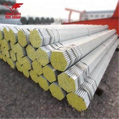 Tabla de peso de la tubería de acero de andamio de 48.3 mm de diámetro tubería gi galvanizada en caliente