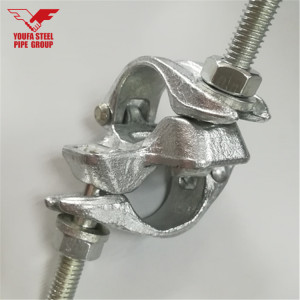 Tianjin Youfa manufacturer electro galvanized 4 inch pipe clamp