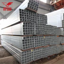 Tianjin YOUFA Marca Tubo de acero galvanizado Material de construcción Tubo cuadrado