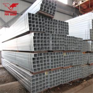 メーカー中国gi中空正方形パイプ薄壁事前亜鉛メッキcs鋼管
