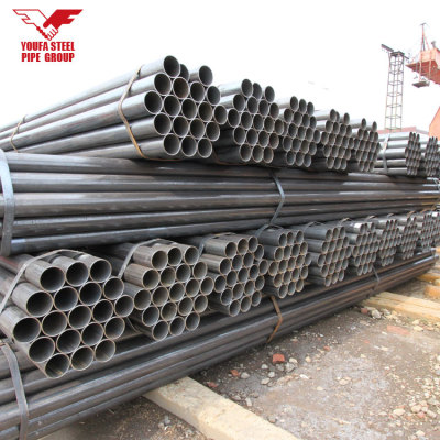 ASTM A53 GR.B welded black carbon erw steel pipe for construction