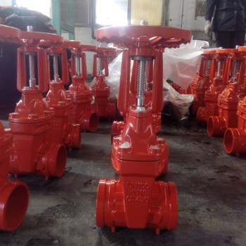 high quality flange resilien tseated  cast iron gate valve  for oil and gas