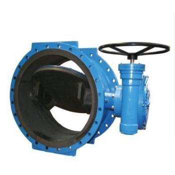 Double offset butterfly valve for water\oil\gas