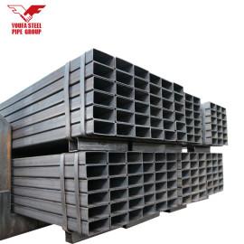 material de construcción tubo cuadrado de hierro al carbono negro tubo rectangular