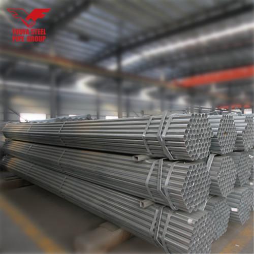 Tianjin Youfa fábrica ronda acero gi precio de tubería tubería de acero galvanizado en caliente para invernadero