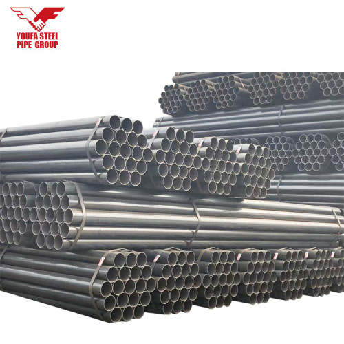 schedule 40 black erw carbon steel pipe for construction 6 Meter