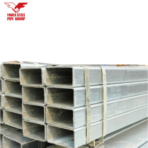 Factory Price 25x25 Galvanized Square Pipe , Square Hollow Tube 1inch x 1 inch