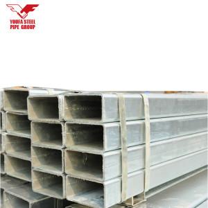 200-400 تراجع الساخنة المجلفن المجلفن وأنابيب الصلب مستطيلة