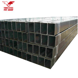 YOUFA MANUFACTURE q235 black square steel pipe for construction