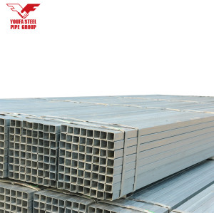 Tianjin YOUFA brand  Steel Tube or pipe / Pre Galvanized Square and Rectangular Steel