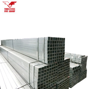 Famous galvanized steel pipe 4 inch thin wall galvanized square steel tube