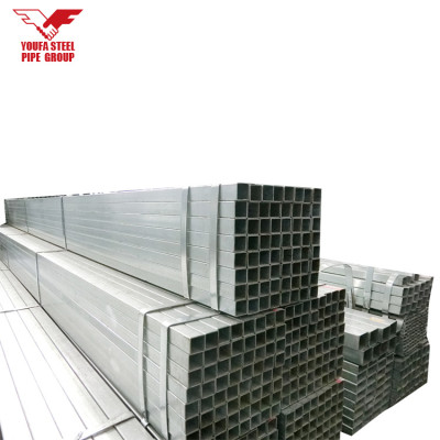 Galvanized rectangular schedule 40 ms steel tube