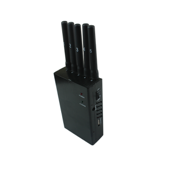 5 band 4G portable cell phone signal jammer