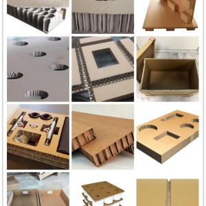 Heavy duty packaging Honey comb core paper cardboard sandwich panels