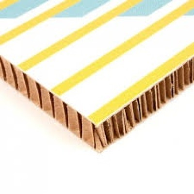 White corrugated paper honeycomb cardboard panel only 5mm thickness for printing and advertising