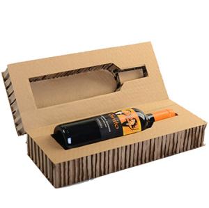 Wine bottle packaging Honey comb core paper cardboard sandwich panels
