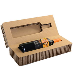 Wine bottle packaging Honey comb core paper cardboard sandwich panels