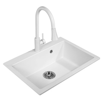 Valea undermount granite composite 32 in. super single bowl kitchen sink in